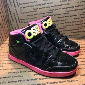 Women's OSIRIS Board Shoes Pink / Black Size 7.5